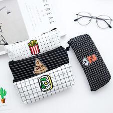 Creative Food Pencil Bag Canvas Pen Storage Case Stationery Makeup Bags Cheap
