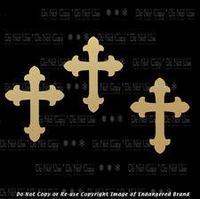 Three 3 Crosses Faith Hope Love  Calvary christian religious sticker decal