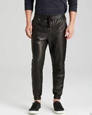 New Men`s Sweat Pants Designer Joggers Running Sports Leather Trousers - FLS002