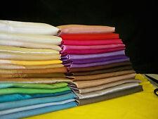 LUXURIOUS SATIN Fabric Beautiful Colours Curtain Material Craft Dress Home