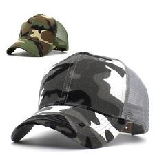 Tactical Hunting Mesh Cap Plain Baseball Camouflage Jungle Style Hats Camping