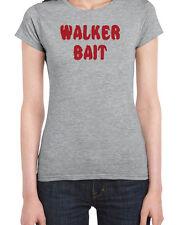 039 Walker Bait womens t-shirt walking funny zombie dead costume rick dixon show
