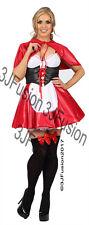 Ladies Red Riding Hood Costume Adult Fancy Dress Womens Fairytale Book Week