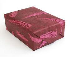 Lokta Paper, Handmade Fair Trade Wrapping Paper, Fern Leaf Print Natural Dye