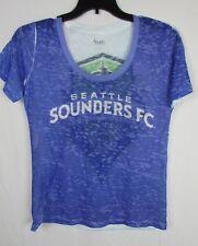 Seattle Sounders Women's S M L XL See Through Purple/White Shirt MLS MSRP $32.00