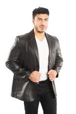 Reed Men's Soft Lamb Skin Leather Blazer Jacket Style 1026 Black Brand New wTags