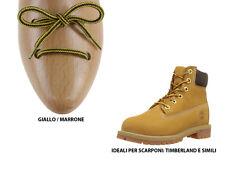 Lacci per scarpe Timberland marrone e giallo ideali per stivali e scarponcini