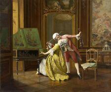 Musicians in Love Francois-Brunery or Francesco Brunery Giclee Canvas Print