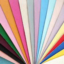 PLAIN PU cuoio tessuto FELTRO supportato A4 o A5 Fogli glitter lucido fiocchi per capelli