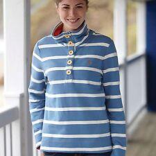 Toggi Contessa Ladies Striped Sweatshirt - Ocean / Winter White