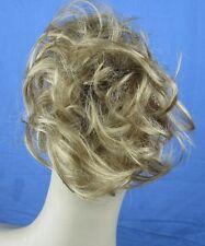 dark blonde fake pony tail bun elastic hair scrunchie hair piece wedding undo 1