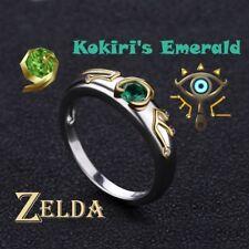 Legend of Zelda Ring Sheikah Eye Slate Kokiris Emerald Sterling 925 Silver Ring
