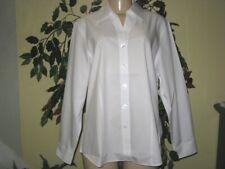 Coldwater creek Women's white Business Cotton iron shirt top Blouse plus 1X 2X3X