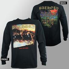 Authentic BATHORY Blood Fire Death  Black Metal Long sleeve T-Shirt S-XL NEW