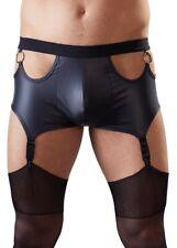 Herren Männer Strapsgürtel Pants schwarz S M L XL schwarz