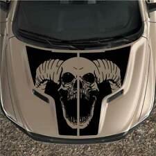 Rebel Dodge Ram 1500 Sport Skull 2pc Hood Black Out Truck Vinyl Decal Graphic