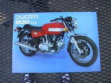 Ducati 900 GTS Brochure lovely NOS bevel twin