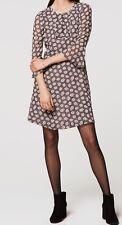 Ann Taylor LOFT Bloom Ruffle Cuff Dress Size 6 NWT Whisper White Color