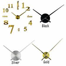 DIY Accessories Black Gold Hands Wall Clock Needles Metal Mechanism Big Size