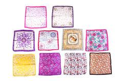 10PCS Womens Silk Feel Square Scarf Bandana Neckerchief 50x50cm Bufanda