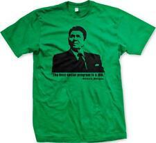 Ronald Reagan Quote Best Social Program Is A Job Conservative Mens T-shirt