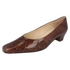 Mujer Cuero Marrón Charol DESLIZABLE Van Dal Zapatos de salón COCOON