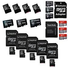 MicroSD 16GB 32GB 64GB 128GB MicroSD UHS-I Class10 Kingston Verbatim SanDisk