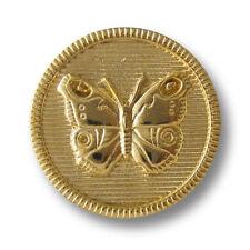 2514gg Ösen Metallknöpfe m 5 älter wirkende glänzend goldfb einfachem Muster