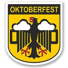 2 X 10 Cm Oktoberfest pegatina de vinilo Ipad Laptop coche águila alemana Alemana # 5108