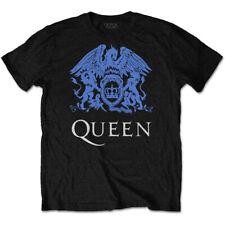 Queen 'Blue Crest' (Black) T-Shirt - NEW & OFFICIAL!