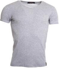 Rerock Party Herren T-Shirt Unterhemd UNI TS-199 Slimfit grau