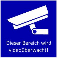 Aluminium Hinweisschild, Videoüberwachung, Schild, Video, versch. Größen