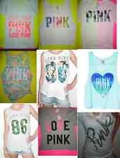 Victorias Secret Pink Bling Tank Tee Sweats Top Lot XS S M L Neon Palm Beach