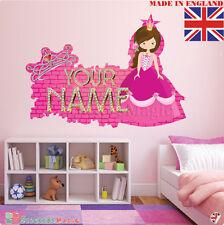 Princesse 03 Personnalisé Nom Enfants Chambre Autocollant Mural Décalque Tissu vinyl UK