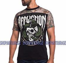 AFFLICTION Swift & Silent A14211 New Men`s Black/RealTree Orange T-shirt