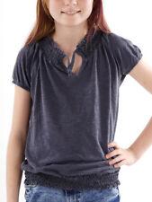 Brunotti T-Shirt Haut Blouse Shirt blau Col Burlesq élastique