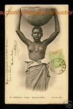 Senegal PRETTY GIRL WATER PORTER / WASSERTRÄGERIN * Ethnic Nude PC FORTIER