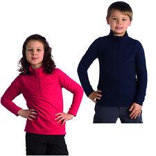 Regatta Lifetime II Kids Grid Fleece Girls Boys Half Zip Jumper