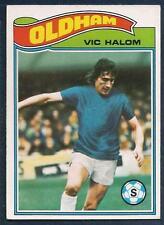 TOPPS 1978 FOOTBALLERS #111-OLDHAM ATHLETIC-SUNDERLAND-LUTON-FULHAM-VIC HALOM