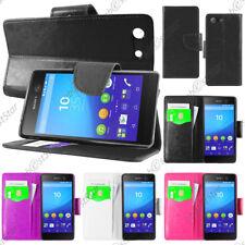 Housse Etui Coque Portefeuille Simili Cuir Sony Xperia M5, M5 Dual