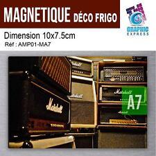 10x7.5cm - MAGNETIQUE DECO - FRIGO MAGNET - MUSIC AMPLI MARSHALL - AMP-01M