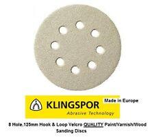 Sanding Sandpaper Hook and Loop discs Klingspor 125mm PS33CK Paint Varnish Wood