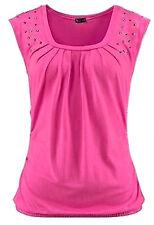 LAURA SCOTT Shirt Glamlook Nieten pink Gr. 36 38 40 42 46 Damen NEU - S166