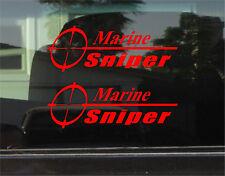MARINE SNIPER VINYL DECAL / STICKER PAIR