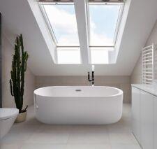 Freestanding Whirlpool Bathtub 170 x 80 Cm Mit 12 Massage Nozzles Led Luxuswanne