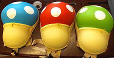 1x 3D Mario Mushroom Kids Unisex Novelty rucksack backpack Red Blue UK Seller