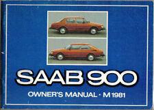 Saab 900 Turbo GLE GLi GLS GL 1980-81 Original Owners Manual (Handbook)