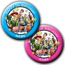 Personnalisé Toy Story Anniversaire badges / réfrigérateur aimant / miroir - 58mm ou 77mm