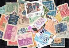 ESTONIE - ESTONIA collections de 25 à 100 timbres différents