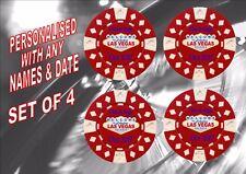 personalisiert Las Vegas Getränke Untersetzer Casino Chips Design Viva Las Vegas